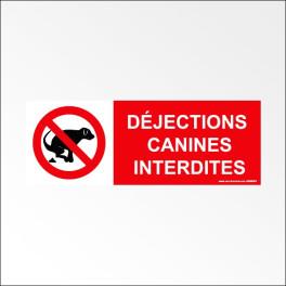 """Panneau d'Information : """"Déjections Canine Interdites"""""""