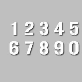 Pochoir adhésif personnalisable - Chiffres et lettres - 200 mm