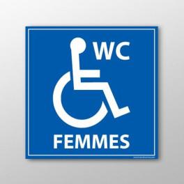 """Panneau signalétique """"WC Femmes PMR"""""""