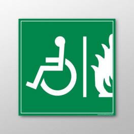 """Panneau signalétique handicapé """"Espace d'Attente Sécurisé"""""""