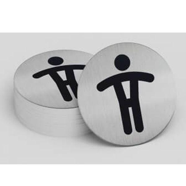 Plaque de porte Toilettes Messieurs