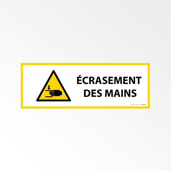 """Panneau de Danger ISO 7010 """"Écrasement des mains"""" W024"""