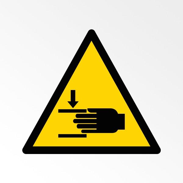 """Pictogramme de Danger ISO 7010 """"Écrasement des mains"""" W024"""