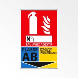 Pictogramme Vinyle Classe AB 160*250 mm