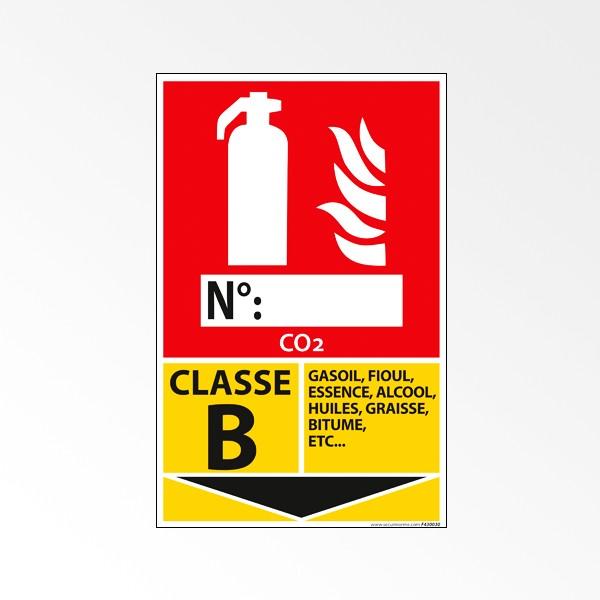Pictogramme Vinyle Classe B 160*250 mm