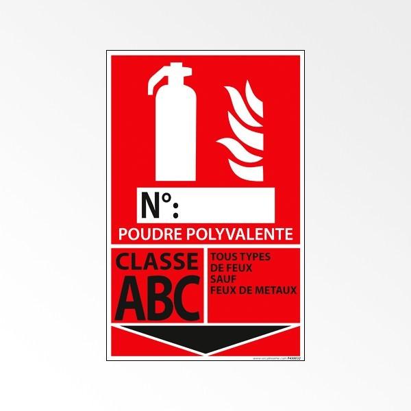 Pictogramme Vinyle Classe ABC 160*250 mm