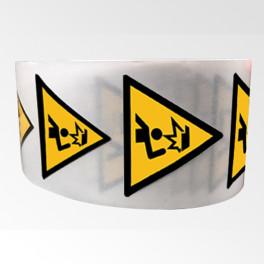 """Rouleau de Pictogrammes de Danger ISO EN 7010 """"Obstacle en hauteur"""" W023"""
