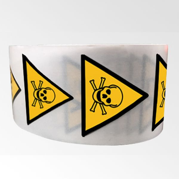 """Rouleau de Pictogrammes de Danger ISO EN 7010 """"Matières toxiques"""" W016"""