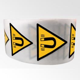 """Rouleau de Pictogrammes de Danger ISO EN 7010 """"Champ magnétique"""" W006"""