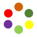 Rouleau de pastilles rondes - Plusieurs formats - plusieurs couleurs