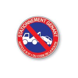 Panneau de circulation Plat Aludibond - Stationnement gênant
