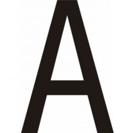 """Lot de 10 lettres adhésifs coloris noir """"A"""" à """"Z"""", 50 ou 75mm"""