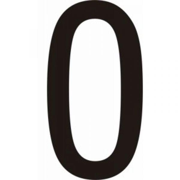 """Lot de 10 chiffres adhésifs coloris noir """"0"""", ...,""""9, 50 ou 75mm"""