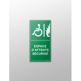 """Panneau signalétique """"Espace d'attente sécurisé"""""""