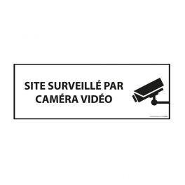 """Panneau d'information """"Site surveillé par caméra vidéo"""""""