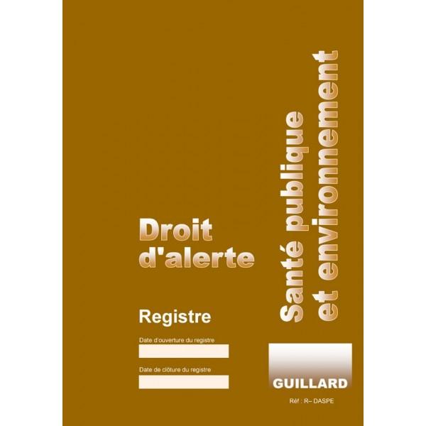 Registre de consignation des alertes de santé publiques et environnement