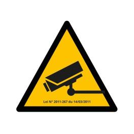 """Pictogramme de Danger """"Vidéosurveillance"""""""