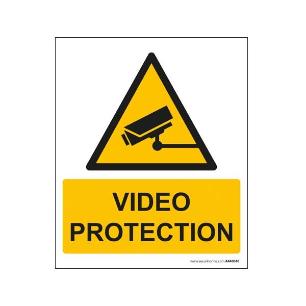 Panneau rectangulaire de sécurité vidéo protection