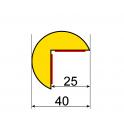 Profil butoir flexible jaune et noir 1 m - modèle A