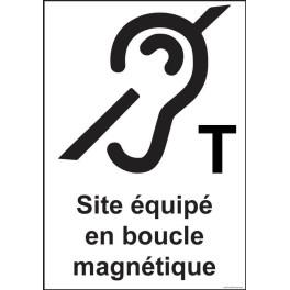 """Panneau signal̩étique """"Site ̩équip̩é en boucle magn̩etique"""""""