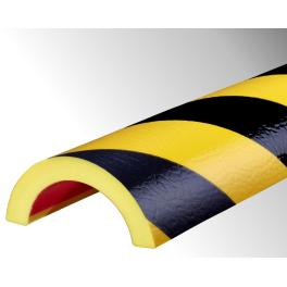 Profil butoir flexible jaune et noir 1 m - modèle R50