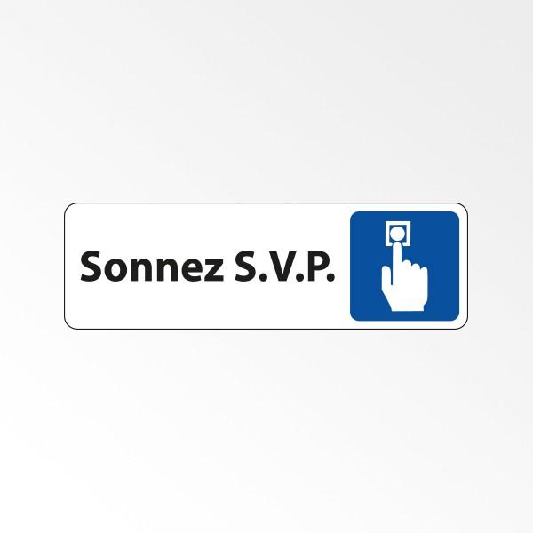 """Panneau Signalétique """"Sonnez S.V.P."""""""