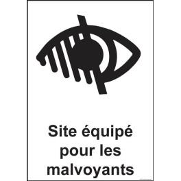 """Panneau signalétique """"Site équipé pour les malvoyants"""""""