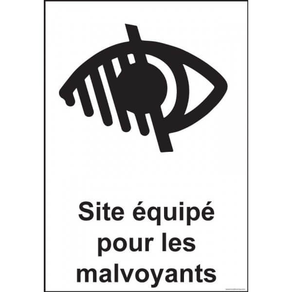 Panneau Signalétique - Site Équipé Pour Les Malvoyants