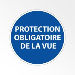 """Panneau d'obligation de port d'EPI """"Protection obligatoire de la vue"""""""