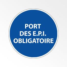 """Panneau d'obligation de port d'EPI """"Port des E.P.I. obligatoire"""""""