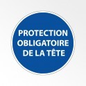 """Panneau d'obligation de port d'EPI """"Protection obligatoire de la tête"""""""
