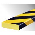 Profil butoir flexible jaune et noir 1 m - modèle S