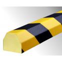 Profil butoir flexible jaune et noir 1 m - modèle CC