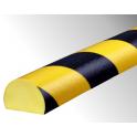 Profil butoir flexible jaune et noir 1 m - modèle C