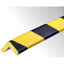 Profil butoir flexible jaune et noir 1 m - modèle E