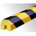 Profil butoir flexible jaune et noir 1 m - modèle BB