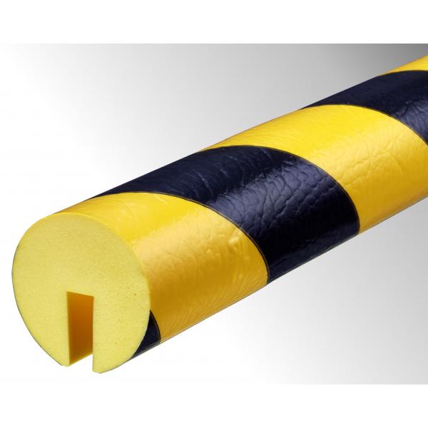 Profil butoir flexible jaune et noir 1 m - modèle B