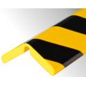 Profil butoir flexible jaune et noir 1 m - modèle H+ FLEX