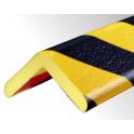 Profil butoir flexible jaune et noir 1 m - modèle H+
