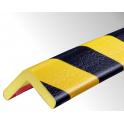 Profil butoir flexible jaune et noir 1 m - modèle H