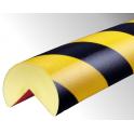 Profil butoir flexible jaune et noir 1 m - modèle A+