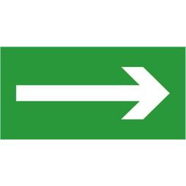 """Etiquette de signalisation """"Flèche"""" pour bloc autonome"""