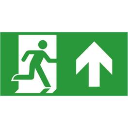 Etiquette de signalisation picto sortie de secours pour bloc autonome