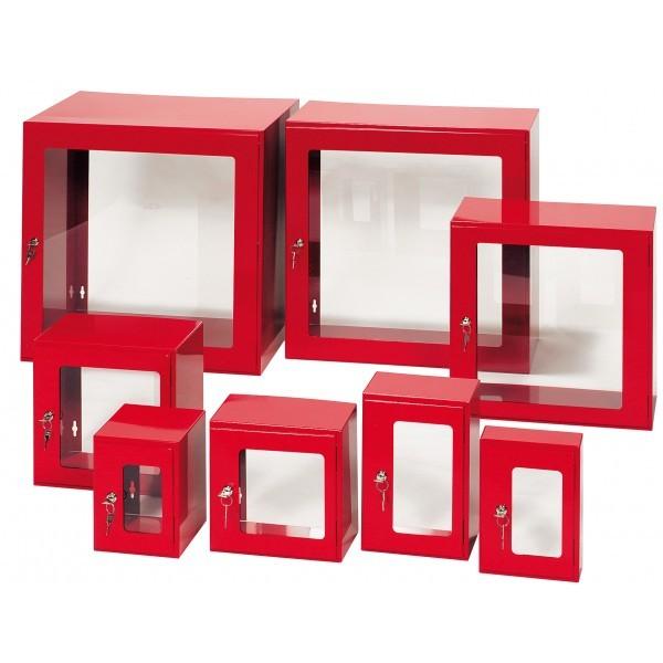 Boîte sans fond sous verre dormant- 250x250x150 mm