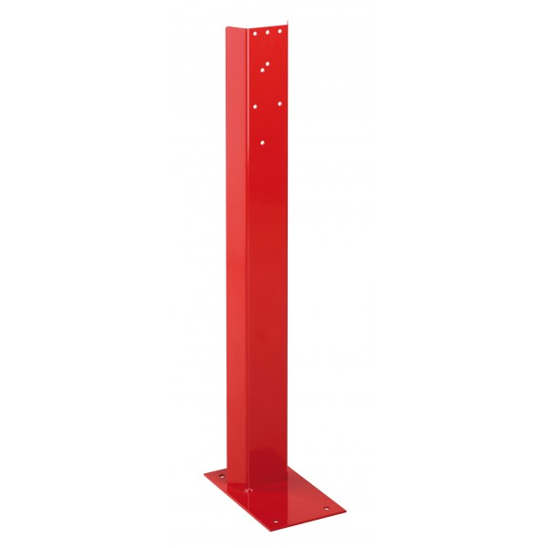 Support pour extincteur en acier rouge