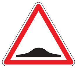 Panneau de Danger A2b Plat en Aludibond : Ralentisseur de Type Dos d'Âne