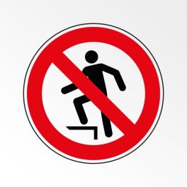 """Pictogramme d'Interdiction ISO 7010 """"Ne pas marcher sur la surface"""" P019"""