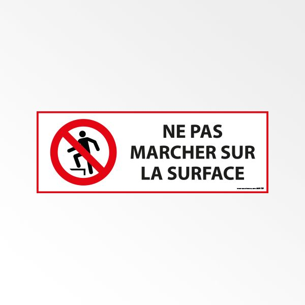 """Panneau d'Interdiction ISO 7010 """"Ne pas marcher sur la surface"""" P019"""