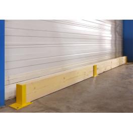 Protège rack pour support madrier extrémité 1 hauteur 23cm de protection - 1 madrier