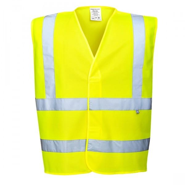 Gilet haute visibilité jaune antistatique
